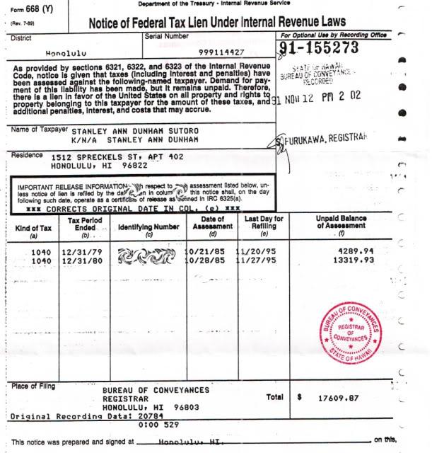 Federal Tax Lien What Is A Federal Tax Lien